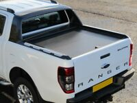 FORD RANGER T6/WILDTRAK DOUBLE CAB 2012 ON ARMADILLO ROLL TOP COVER AND REAR SPOILER FRAME