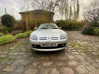 MG TF 1800 cool blue 85,500 miles mot sep 2021
