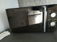 Silver microwave good condition