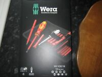 WERA Kraftform Kompakt 18 Pce VDE Pz,Ph,Cabinet Insulated Screwdriver Set, brand new