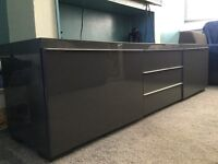 Grey gloss TV stand - still available in IKEA for £195
