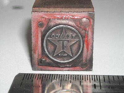 Vintage TEXACO OIL LOGO Letterpress Printing Block Letterpress Metal print Stamp
