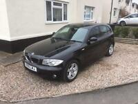 Black BMW 1 Series 5door full service history private reg