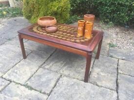 G PLAN coffee table TEAK 1960 1970 tiled top Mid Century