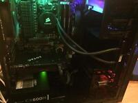Powerful watercooled 8 core gaming PC and monitor for sale