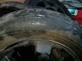 """Black 15"""" alloy wheels cone off a golf gti"""