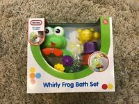 Little Tikes Whirly Frog Bath Set - New In Box
