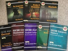 Set of 8 GCSE Study / Revision Guides - Maths - English - History - German & More