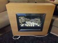 Modern Electric Fire and Surround - Freestanding / Wall Hung - in Excellent Condition!