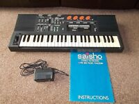 Saisho Stereo keyboard MK800 Music Maker with original instruction book and power adaptor