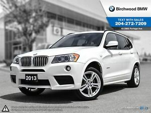 2014 BMW X3 xDrive35i Navigation M-Sport & Premium Packages!