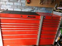 Snap on roll cab toolbox