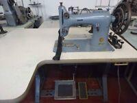 Used Singer 132K1 Top+Drop Feed Heavy Duty Walking Foot Flatbed Sewing Machine