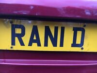 Cherished Number Plate RAN 1D