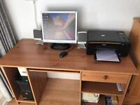 Home computer, printer, desk, chair bundle