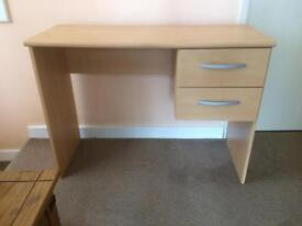 Desk / dresser /dressing table with 2 drawers