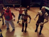 WWE/WWF 9 Wrestling Figures plus Raw Wrestling Ring