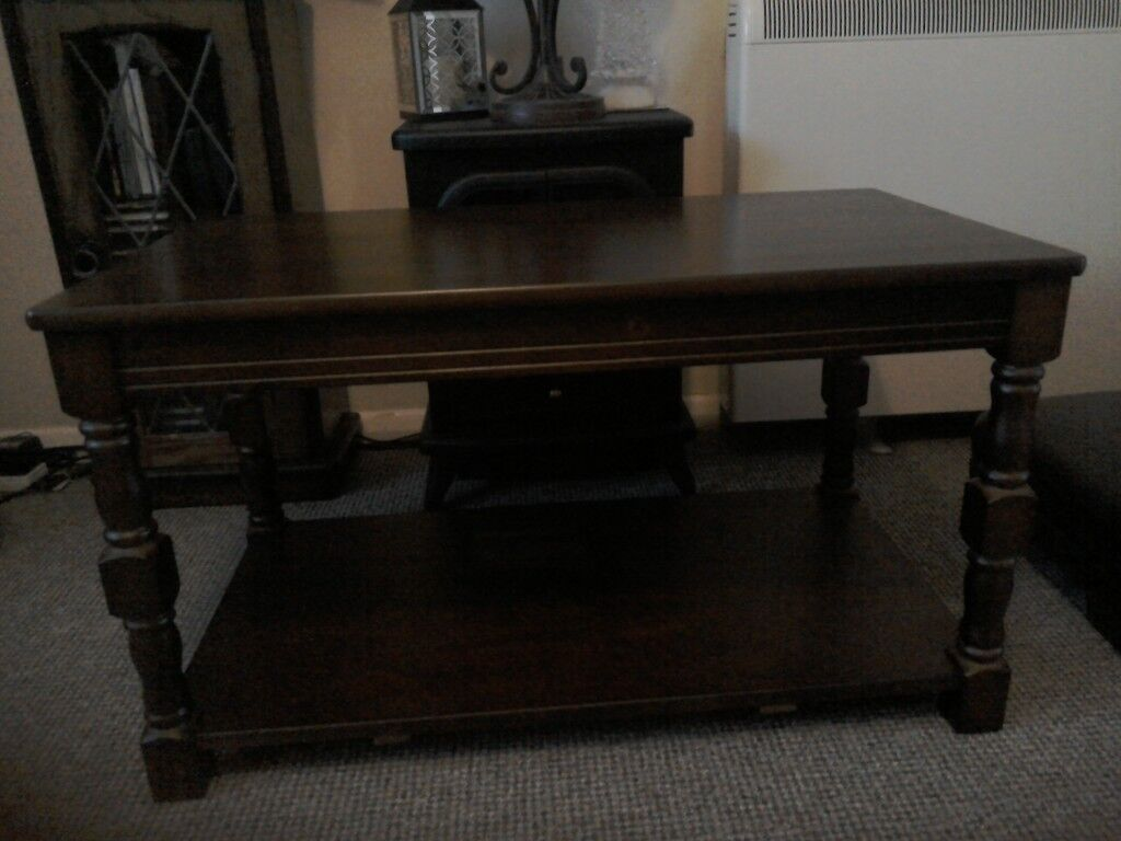 Home Devon Solid Pine Walnut Effect Coffee Table From Argos