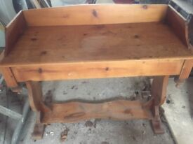 Old wood hall/dressing table