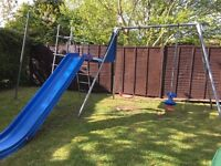 TP Double swing and slide set in good used condition.