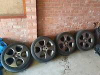 """Vw golf gti 18"""" monzo alloys wheels space grey and tyres"""