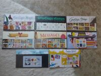 Greetings and Smilers Stamps and Olympic Miniature sheets