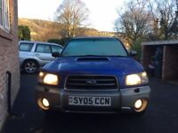 SUBARU FORESTER XT 2005 ALL WEATHER 4X4 MANUAL 5 SEATER 10 MONTHS MOT GREAT CONDITION ELECTRIC BLUE
