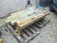 Totally bomb proof garden/coffee table.