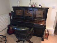 Dark wood upright piano