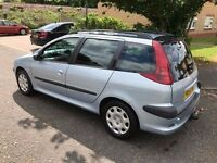 2004 Peugeot 206 SW 2.0 HDi S 5dr (a/c) Diesel Estate Family Car @07445775115