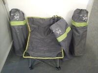 Quechua low folding Hiking/camping chairs in bags x 3 £10 EACH