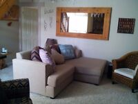 3 SEATER SOFA DAYBED/CHAISE LONGUE CAN BE USED AS TWO SEPARATE UNITS AS PER PHOTOS