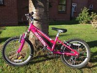 "Girls 18"" bike with 6 gears"