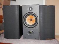 B&W 602 SERIES 2 150W SPEAKERS IN BLACK ASH