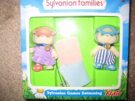 Sylvanian Families Games Swimming in Box, New, Xmas