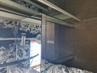 2 Bedside Cabinets / Tables (mirrored)