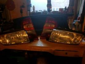Skoda Fabia lights set.headlights and rearlights