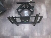 TILT&SWIVEL Solid Dual Arms TV Wall Mount Braket
