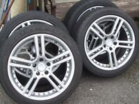 "Team Dynamics 'Le Mans' 17"" alloys/new tyres 5 x 105 PCD - Chevrolets/Vauxhall Astras"