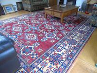 Extra large stunning Hand Knotted Kazak rug 440cm x 330cm.