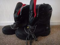Wenaas steel toe cap work safety boots Oil master 2 zip and lace size 42 UK 7 NEW