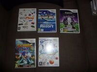 NINTENDO WII FIVE GAMES AGE 3-7