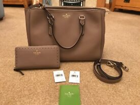 Stunning leather 100% genuine Kate Spade bag and purse