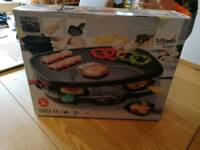 Bifinett 1200W table top raclette grill for 8 people