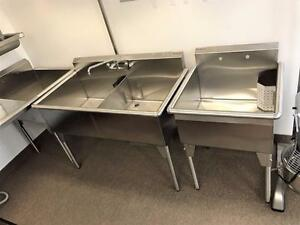 EVIER acier inox COMMERCIAL / COMMERCIAL Stainless Steel SINK ( 16 GUAGE ACIER INOX  ) MEGA VENTE AVRIL