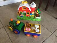 Old McDonald Farm House Tractor Toys
