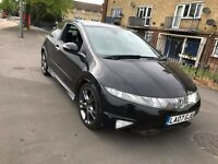 2007 HONDA CIVIC 2.2 I-CDTI TYPE S GT DIESEL MANUAL 3 DOOR HATCHBACK BLACK SPORTS GREAT DRIVE TOWBAR