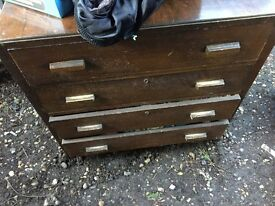 Usable old chest of drawers
