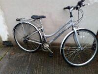 Ladies silver Viking hybrid town bike Bristol UpCycles