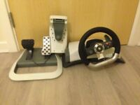 xbox wheel and pedal